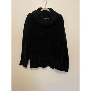 Loft velvet cowl neck sweater